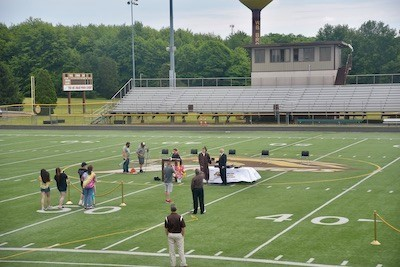 shot of field on grad day